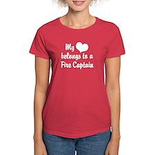 My Heart Belongs to a Fire Captain Tee