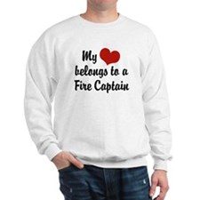 My Heart Belongs to a Fire Captain Sweatshirt