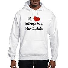 My Heart Belongs to a Fire Captain Hoodie