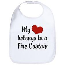 My Heart Belongs to a Fire Captain Bib