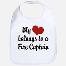 My Heart Belongs to a Fire Captain Bib