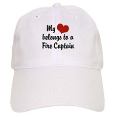 My Heart Belongs to a Fire Baseball Captain Baseball Cap
