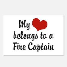 My Heart Belongs to a Fire Captain Postcards (Pack