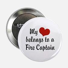 """My Heart Belongs to a Fire Captain 2.25"""" Button"""