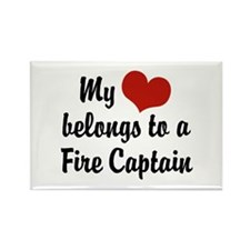 My Heart Belongs to a Fire Captain Rectangle Magne