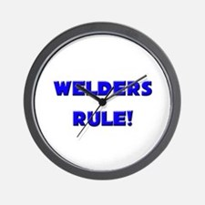 Welders Rule! Wall Clock