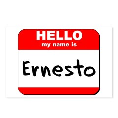 Hello my name is Ernesto Postcards (Package of 8)
