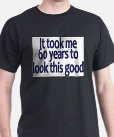 60yrs_mens_dark_blue T-Shirt