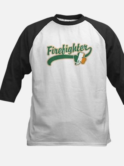 Irish Firefighter Kids Baseball Jersey