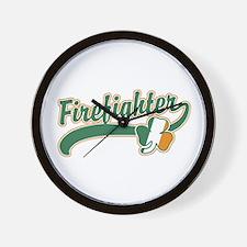 Irish Firefighter Wall Clock