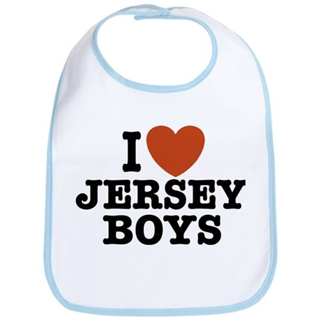 I Love Jersey Boys Bib