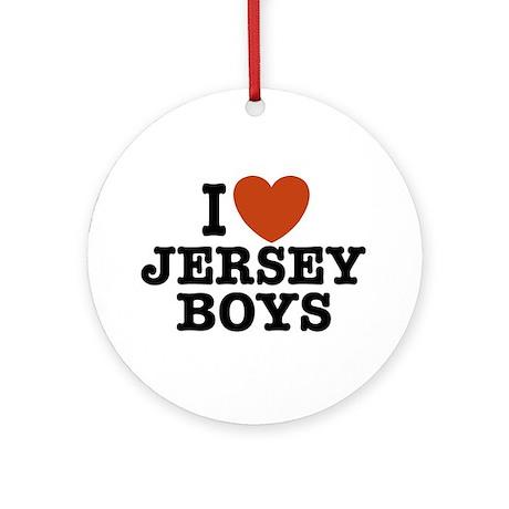 I Love Jersey Boys Ornament (Round)