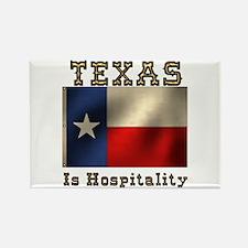 Texas Hospitality Rectangle Magnet