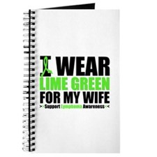 I Wear Lime Green For My Wife Journal