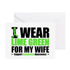 I Wear Lime Green For My Wife Greeting Cards (Pk o