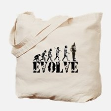 Tuba Sousaphone Evolution Tote Bag