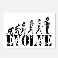 Tuba Sousaphone Evolution Postcards (Package of 8)