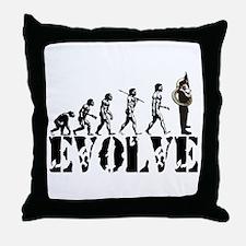 Tuba Sousaphone Evolution Throw Pillow