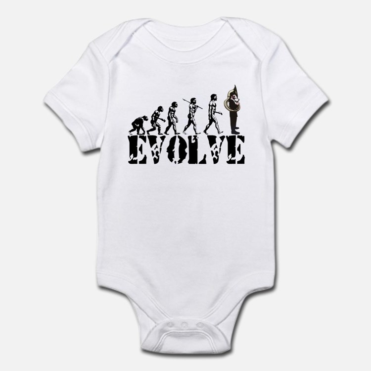 Tuba Sousaphone Evolution Infant Bodysuit