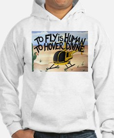 Helicopter in Desert Hoodie