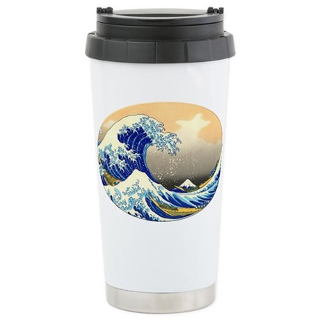 Great Wave Stainless Steel Travel Mug