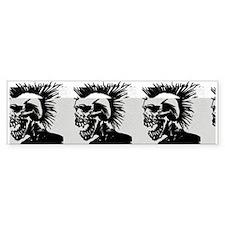 Skull Strip Bumper Bumper Sticker