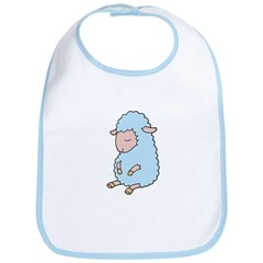 Light Blue Baby Lamb Bib