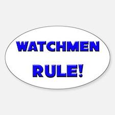 Watchmen Rule! Oval Decal
