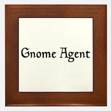 Gnome Agent Framed Tile