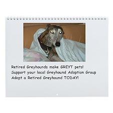 Wall Calendar - Greyhound Adoption