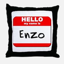 Hello my name is Enzo Throw Pillow