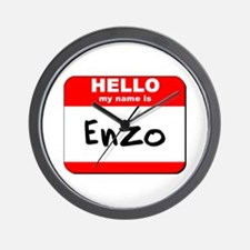 Hello my name is Enzo Wall Clock