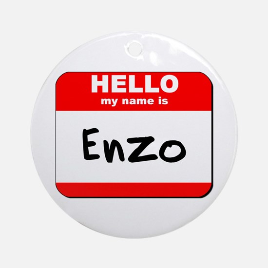 Hello my name is Enzo Ornament (Round)