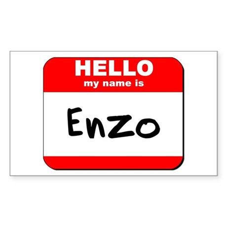 Hello my name is Enzo Rectangle Sticker