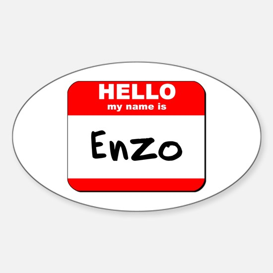 Hello my name is Enzo Oval Decal