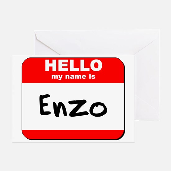 Hello my name is Enzo Greeting Card