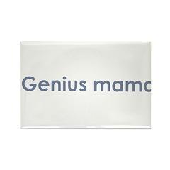 Genius Mama Rectangle Magnet