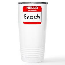 Hello my name is Enoch Travel Coffee Mug