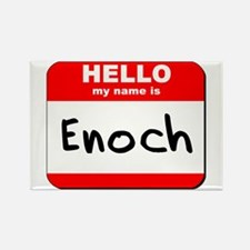 Hello my name is Enoch Rectangle Magnet