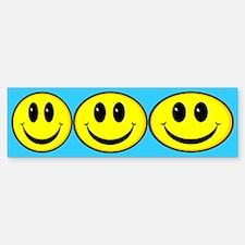 Smiley Face Oval Bumper Bumper Bumper Sticker