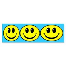 Smiley Face Oval Bumper Bumper Sticker