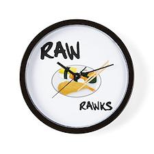 Raw Rawks Wall Clock
