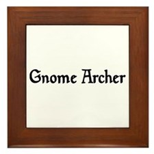 Gnome Archer Framed Tile