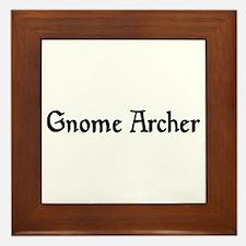 Gnome Archer Framed Tile