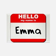 Hello my name is Emma Rectangle Magnet