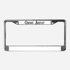 Gnome Artist License Plate Frame