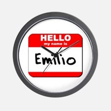 Hello my name is Emilio Wall Clock
