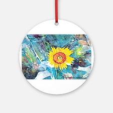 Sunflower Beauty Keepsake (Round)