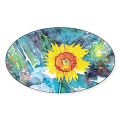 Sunflower Beauty Oval Decal