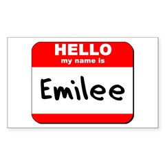 Hello my name is Emilee Rectangle Decal